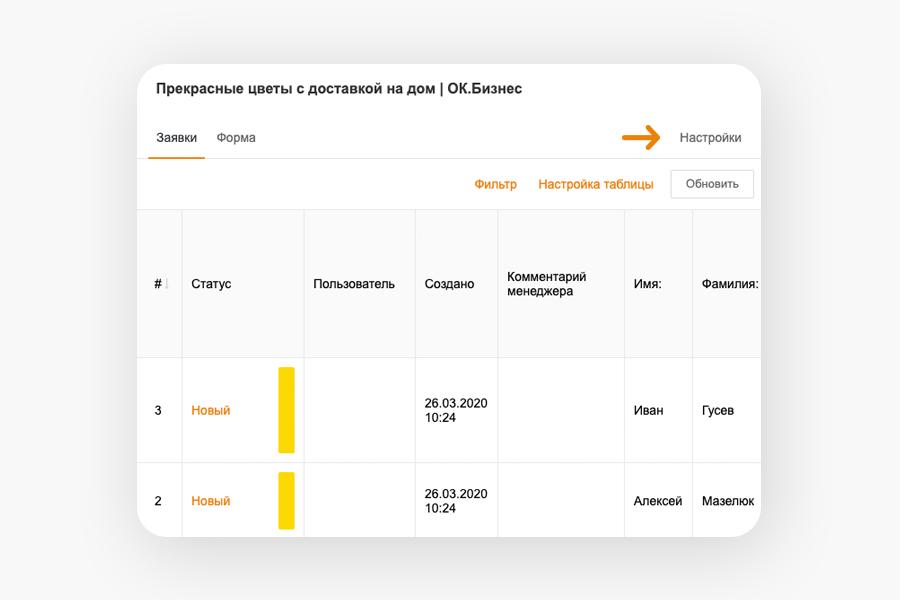Заявки — еще один простой способ открыть интернет-магазин прямо в Одноклассниках